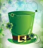 Cappello del Leprechaun sulla priorità bassa di immaginazione illustrazione di stock