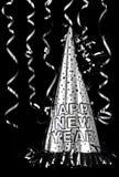 Cappello del partito di nuovo anno felice Fotografia Stock
