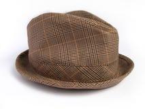 Cappello del plaid di inverno del Brown Fotografia Stock Libera da Diritti