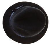Cappello dell'uomo del feltro del nero Fotografie Stock