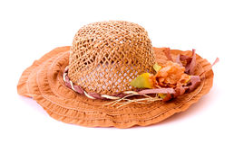Cappello della donna dell'annata isolato Fotografia Stock