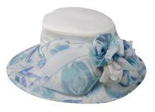 Cappello della donna isolato su fondo bianco Fotografia Stock
