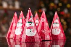 Cappello della festa di Natale, a forma di cono Fotografia Stock Libera da Diritti
