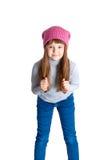 Cappello della ragazza del bambino Fotografie Stock Libere da Diritti