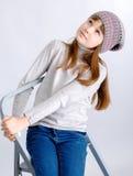 Cappello della ragazza del bambino Fotografia Stock