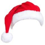 Cappello della Santa di natale Fotografia Stock Libera da Diritti