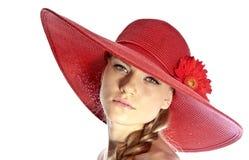 Cappello della spiaggia Immagini Stock Libere da Diritti