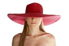 Cappello della spiaggia Fotografia Stock