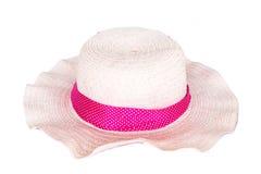 Cappello della spiaggia isolato Immagine Stock