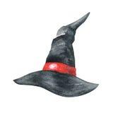 Cappello delle streghe Illustrazione dell'acquerello Immagini Stock