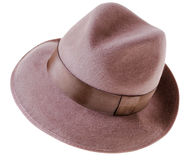 Cappello di colore marrone dell'uomo classico del feltro Fotografia Stock