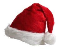 Cappello di colore rosso del Babbo Natale immagini stock
