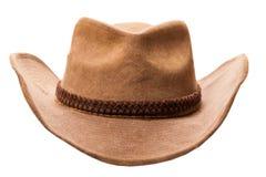 Cappello di cowboy di cuoio Fotografie Stock Libere da Diritti