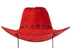 Cappello di cowboy rosso Immagini Stock