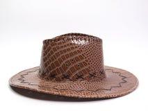 Cappello di cuoio del Brown Immagini Stock Libere da Diritti