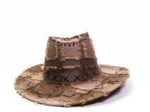 Cappello di cuoio del Brown Fotografia Stock