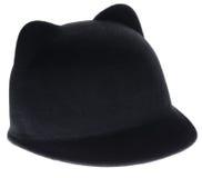 Cappello di feltro nero Immagine Stock