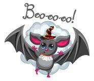 Cappello di Halloween del pipistrello su un fondo bianco Vettore Fotografie Stock Libere da Diritti