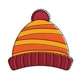 Cappello di inverno del Beanie Immagine Stock