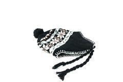 Cappello di inverno isolato su fondo bianco Fotografie Stock Libere da Diritti
