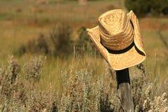 Cappello di paglia Fotografie Stock Libere da Diritti