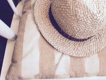 Cappello di paglia Fotografie Stock