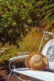 Cappello di paglia di estate Fotografia Stock Libera da Diritti