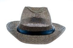 Cappello di paglia di estate isolato su bianco Immagine Stock