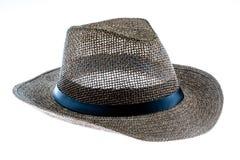 Cappello di paglia di estate isolato su bianco Immagini Stock Libere da Diritti