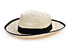 cappello di paglia per l'uomo Fotografia Stock