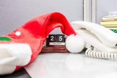 Cappello di Santa Claus Fotografie Stock