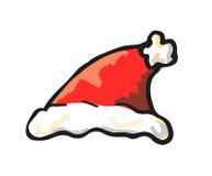 Cappello di Santa Claus, vettore. Royalty Illustrazione gratis