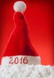 Cappello 2016 di Santa del buon anno Fotografia Stock