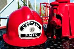 Cappello di sicurezza di fuoco Fotografie Stock