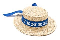 Cappello di Venezia della paglia Fotografia Stock Libera da Diritti