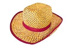 Cappello di vimini Fotografie Stock Libere da Diritti