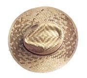 Cappello di vimini d'annata dell'agricoltore Fotografie Stock