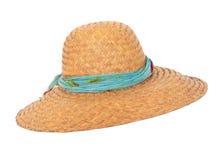 Cappello di vimini di estate Immagini Stock Libere da Diritti