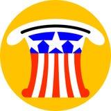 Cappello di Zio Sam Fotografia Stock Libera da Diritti