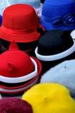 Cappello differente nella forma rotonda Fotografia Stock Libera da Diritti