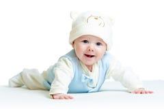 Cappello divertente weared bambino sveglio Fotografia Stock