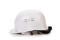 Cappello duro bianco Immagine Stock
