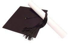 Cappello e diploma Fotografie Stock