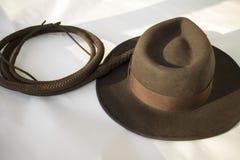 Cappello e frusta Fotografie Stock