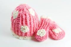 Cappello e guanti del bambino. Fotografia Stock Libera da Diritti