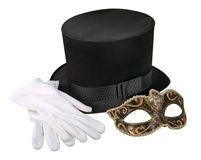 Cappello e mascherina del mago fotografia stock libera da diritti