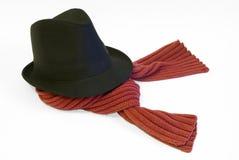 Cappello e sciarpa Immagine Stock