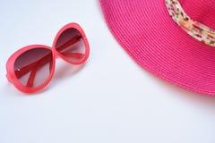 Cappello ed occhiali da sole di estate Fotografie Stock