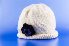 Cappello fatto a mano della lana Fotografie Stock Libere da Diritti