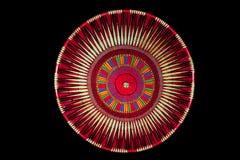Cappello fatto a mano tradizionale del Borneo Melanau su fondo nero Immagine Stock